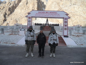Siachen: Ritesh Arya Hydrogeologist taps into a hot water source near Army base camp
